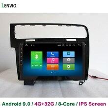 Lenvio RAM 4GB + 32GB Octa Core Android 9,0 CAR Radio GPS navegación para VW Volkswagen GOLF 2013, 2014, 2015, 2016 reproductor de DVD del coche IPS