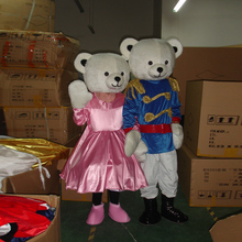 Mascot costume couple bear cartoon adult mascot