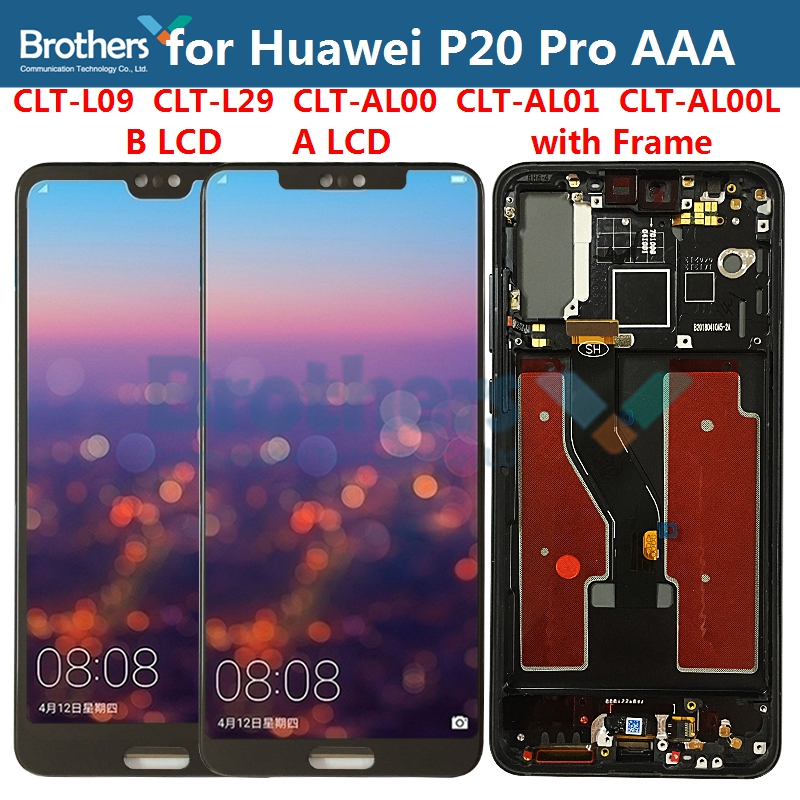 LCD Screen For Huawei P20 Pro LCD Display For Huawei P20Pro CLT-L09 CLT-L29 LCD Assembly Touch Screen Digitizer TFT Screen AAA