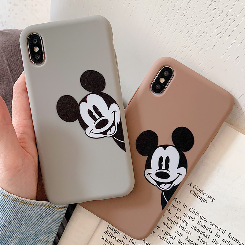 Cartoon Mobile Phone Case For <font><b>IPhone</b></font> 7plus 8plus <font><b>6</b></font> 6s Plus <font><b>Mickey</b></font> Minnie Cover Silicone Case For <font><b>IPhone</b></font> XS MAX XR X <font><b>Coque</b></font> image