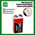 Аккумуляторная батарея USB 9 в 500 мА/ч, литий-полимерная батарея для мультиметра, микрофона, радиоуправляемой камеры, дрона