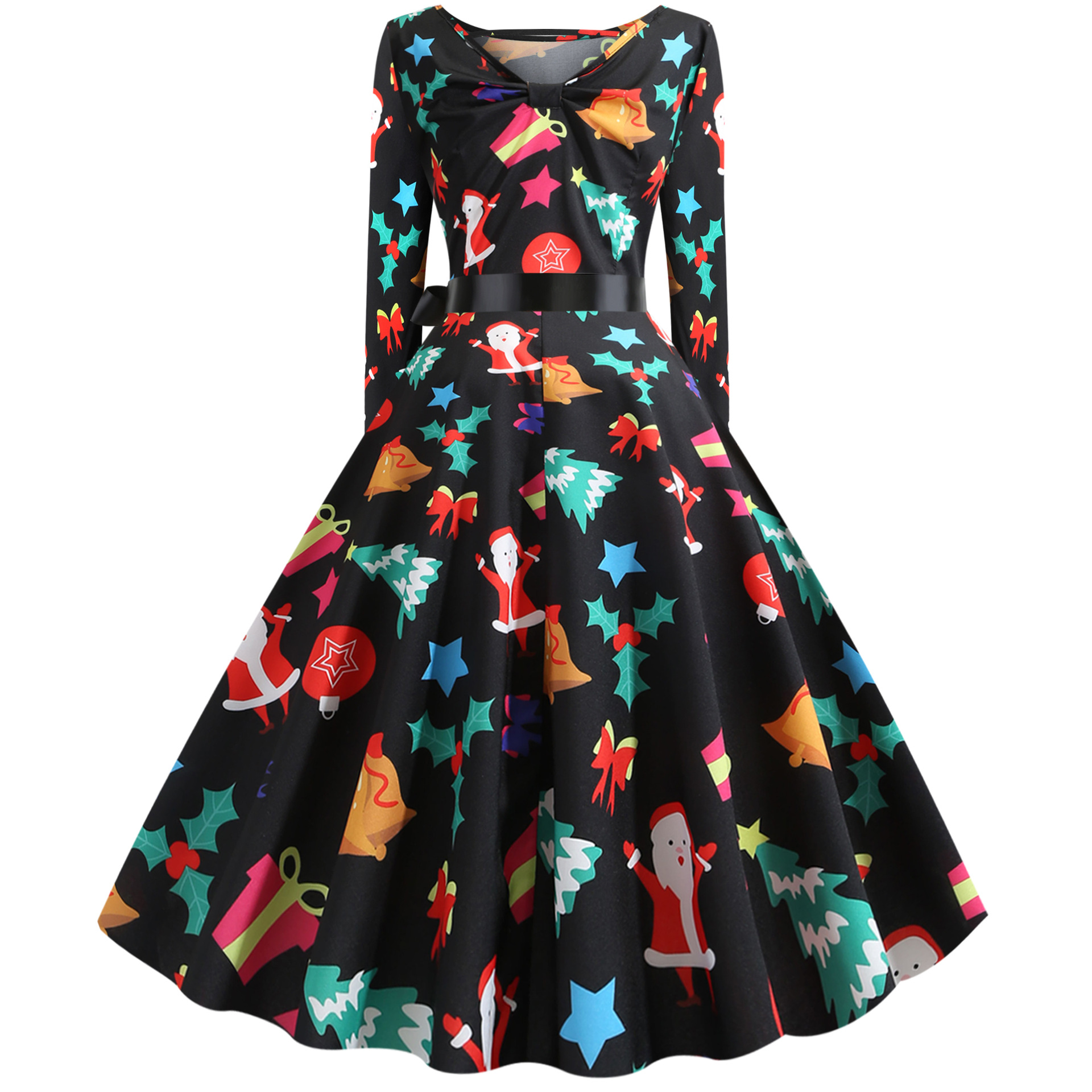 christmas tree dress vintage women plus size dresses party women clothes 2019 print sexy dresses party night club