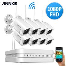 ANNKE 8CH 1080P FHD Wi Fi Wireless NVR CCTV System 8PCS IP Camera WIFI IP66 Waterproof CCTV Security Camera Surveillance Kits