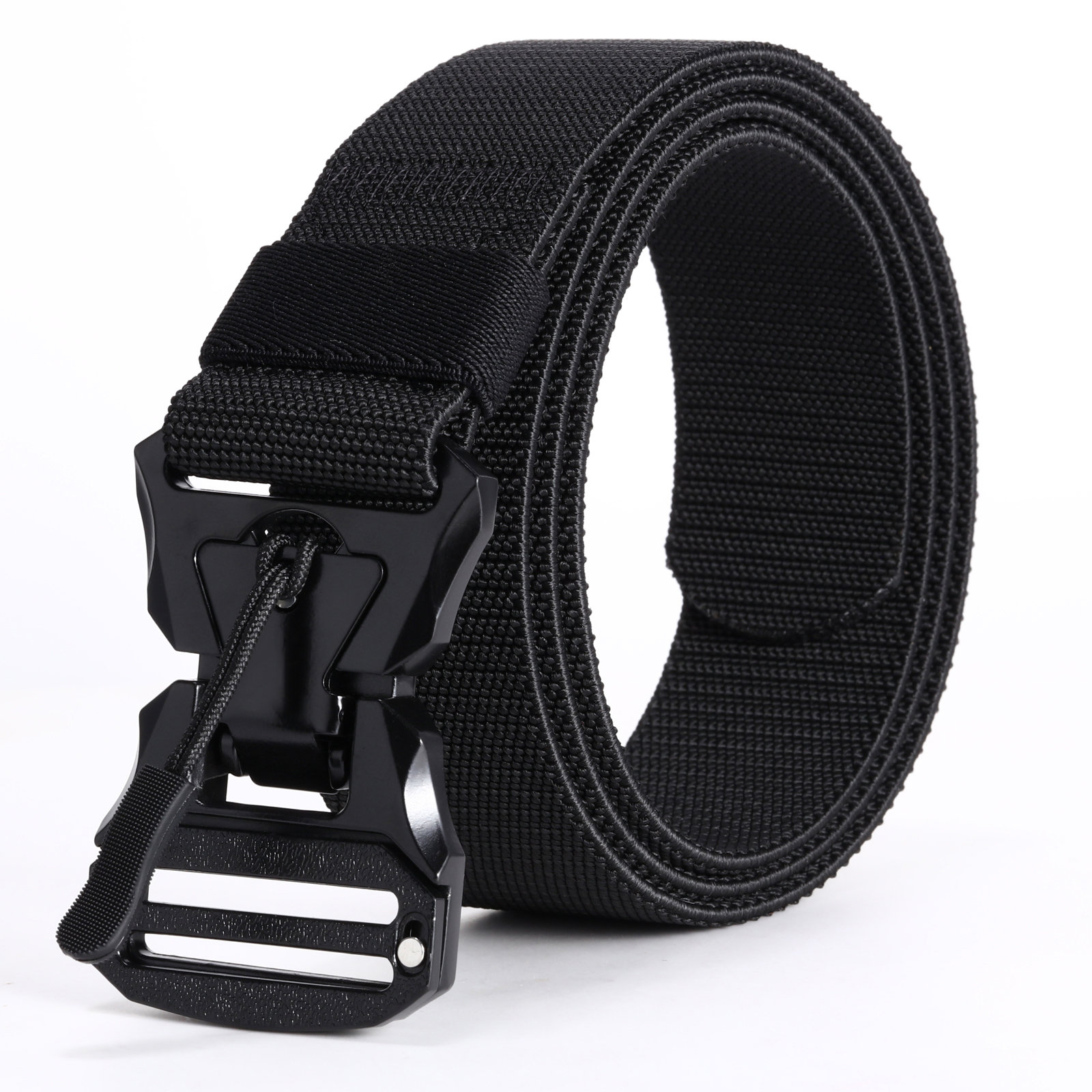 Hreamky Men Belt,military In The Wild Hunting Survival The Tactical Belt,Metal Magnet Buckle Automatic Tightening Belts