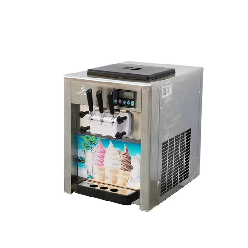 18l Bql-818t 3 Color Icecream Maker Stainless Steel Soft Ice Cream Making Machine For Sale