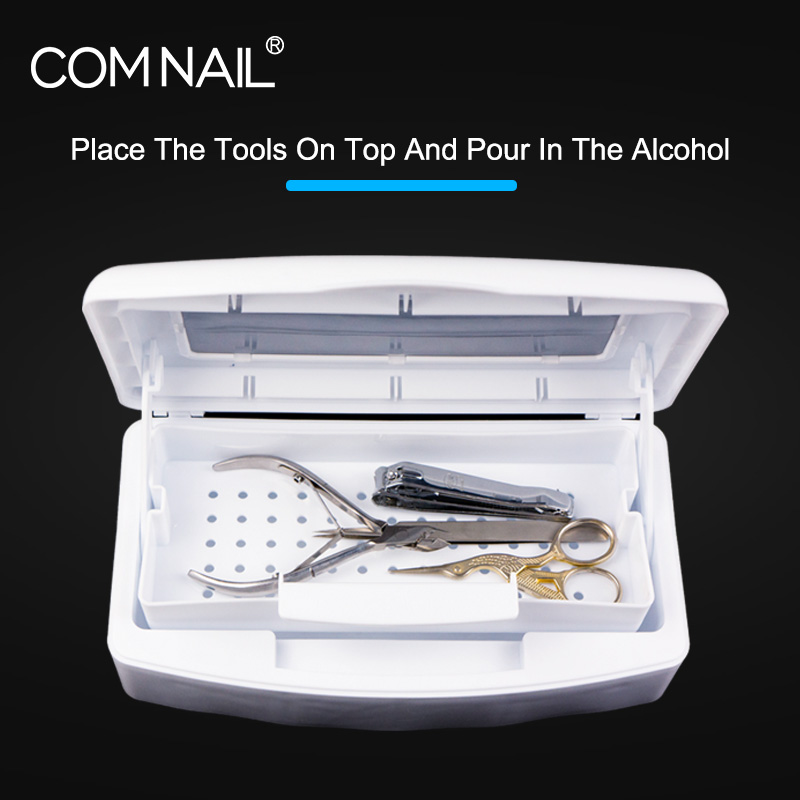 Sterilizer Tray Box Alcohol Disinfection Box Salon Nail Metal Tools Disinfector Manicure Implement ToolAlcohol Disinfection Box