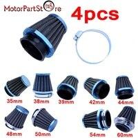 New Arrival 4PCS Motorcycle Air Filters Mushroom Head Cleaner Racing 35 38 39 42 44 48 50 52 54 60 mm For Toyoto Honda Motorbike