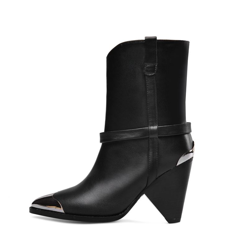 New Brand Women Boots Winter ankle Boots Strange Style High Heel Western Boots Pointed Toe Shoes Ladies Autumn Size 34-43