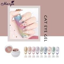Varnish Manicure-Tool Nail-Polish Uv-Gel Magnetic-Effect Soak-Off 9-Colors Monja 5-Ml
