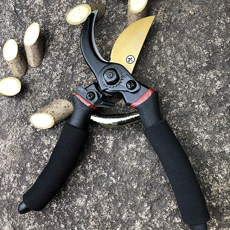 Image 5 - FIRMOR Professional Pruning Shears Titanium Secateurs Bypass Pruner Hand Gardening Plant Scissor Branch Trimmer Tools-in Pruning Tools from Tools