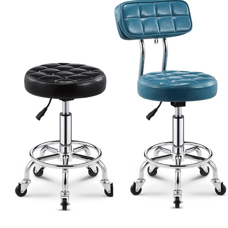 Bar Chair  Beauty  Backrest High Stool Rotating Lift     Round