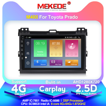 4G LTE android10 4G+64G Car Multimedia GPS Navigation Radio Player for Toyota Land Cruiser Prado 120 2004-2009 Built-in DSP IPS