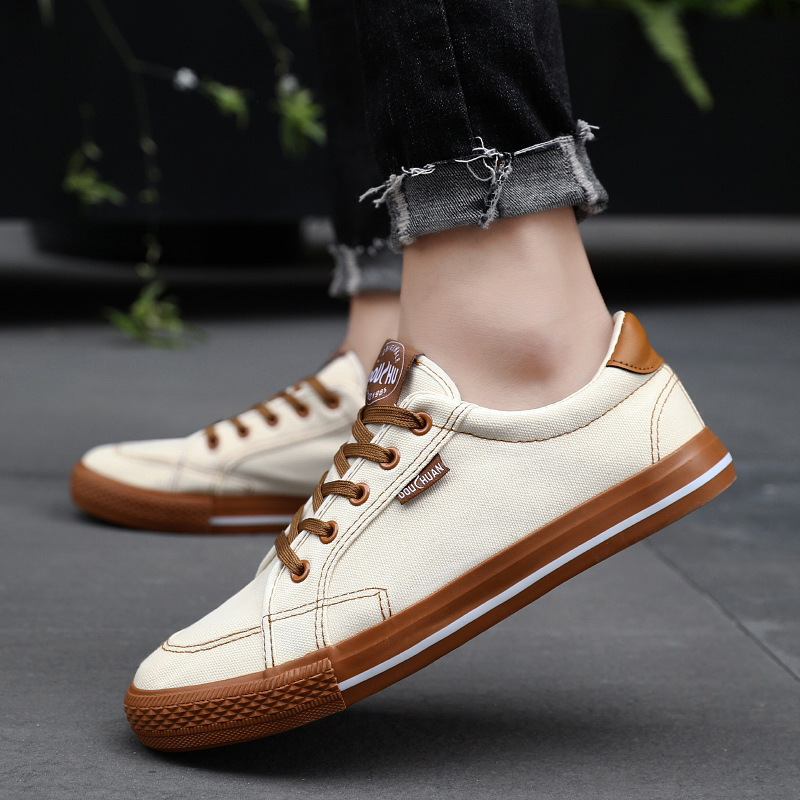 Summer Men Casual Sneakers Student Fashion Canvas Height Increasing Shoes Gift