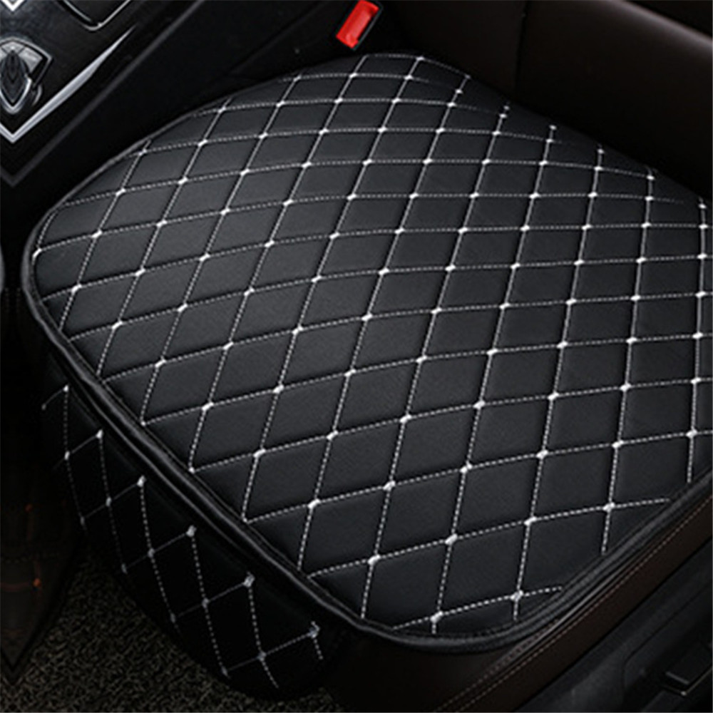 1PC Car Leather Seat Cushion Cushion Front Seat Cover Car Cushion Universal Back Support Pad Interior Accessories Seat Mat