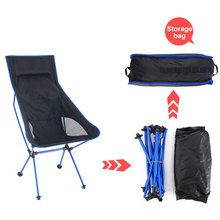 Portable Folding Outdoor Camping Chair Oxford Cloth Lengthen Camping Seat for Fishing Festival Picnic BBQ Beach Ultralight Chair cheap CN(Origin) Metal Aluminum FOLDING CHAIR Open Size 105x70x55cm Beach Chair S1018 Outdoor Furniture Modern For Home Office Hospital Director Fishing