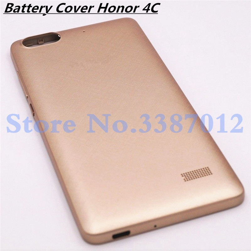 5.0'' Battery Cover Case For Huawei Honor 4c 4 C Rear Housing Door Case Cover Spare Parts With Side Button