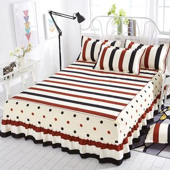Narzuta na łóżko cubrecama narzuta na pościel modne bawełniane łóżko spódnica pojedyncza księżniczka prześcieradło spódnica na łóżko 1 8 1 5 2 0m metrów tanie i dobre opinie mtuove Drukowane Domu Hotel 200tc PLANT Poliester bawełna Polyester fiber Plants quality part
