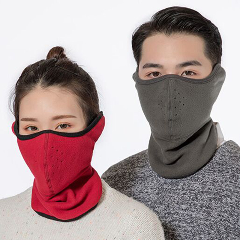 XEONGKVI European Fashion Polar Fleece Three-in-one Protect Ear Neckerchief Masks Autumn Winter Warm Cycling Masks For Men Women