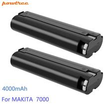 Powtree 7.2V 4000mAh Power Tool Battery For MAKITA 7033 7002 7000 632003-2 191679-9 192532-2 Cordless Drill tool Battery T30