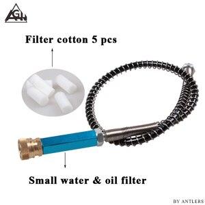 Ручной насос PCP для пейнтбола, страйкбола, 300 бар/4500 фунтов на кв. дюйм, сепаратор воды и масла, бесплатный фильтр с шлангом 50 см и быстрыми муф...