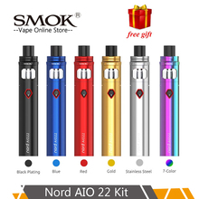 SMOK Nord AIO 22 Kit Vape 2000mAh &3.5ml Atomizer +Nord Mesh+Regular coil Electronic Cigarette nord vs stick 80w