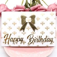 Happy Birthday Envelope Metal Cutting Dies for Card Making
