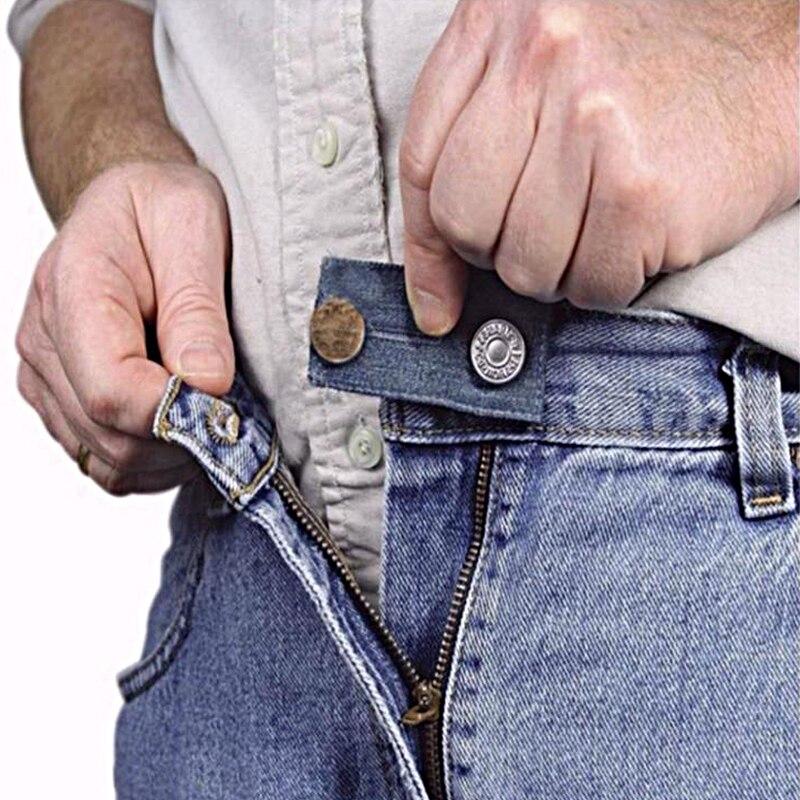 Длина пояса брюк расширителей Юбка Джинсы с эластичной резинкой на талии на пуговицах удлинитель для ремня безопасности расширение Пряжка ...