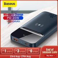 BaseusPowerBank10000mAhPortable20WMagnetic Wireless Charger PowerCore External Battery PowerBankforXiaomi iPhone12