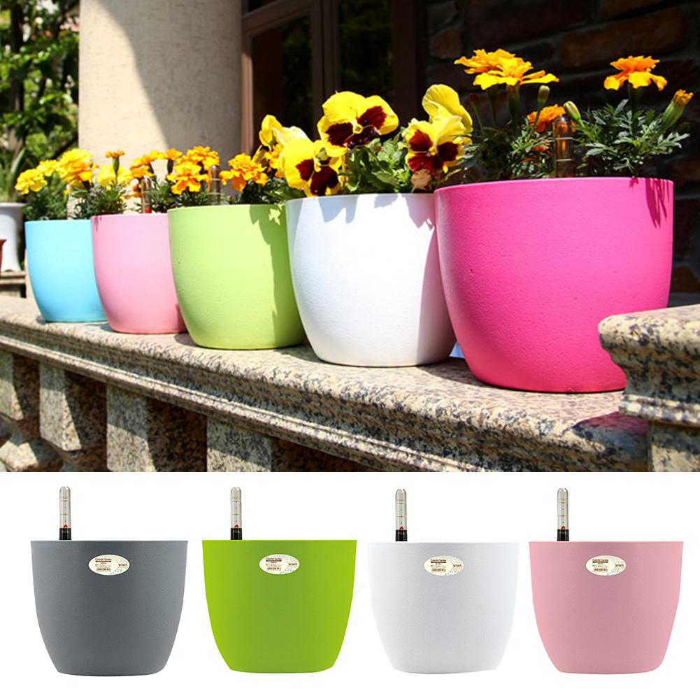 Auto Irrigate Flower Vase Automatic Watering Planter Lazy Planting Automatic Watering Flower Pot Absorbing Irrigation Flower Pot