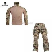 Emersongear g3 conjuntos uniformes de combate tático camuflagem ternos dos homens ao ar livre militar do exército caça treinamento camisa calças mulitcam