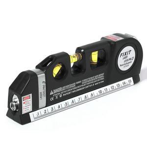 Ferramenta de construção de nível de cílios, nivelamento de 3 linhas de laser profissional horizon vertical 5.5m, régua multiuso, ferramenta de medição