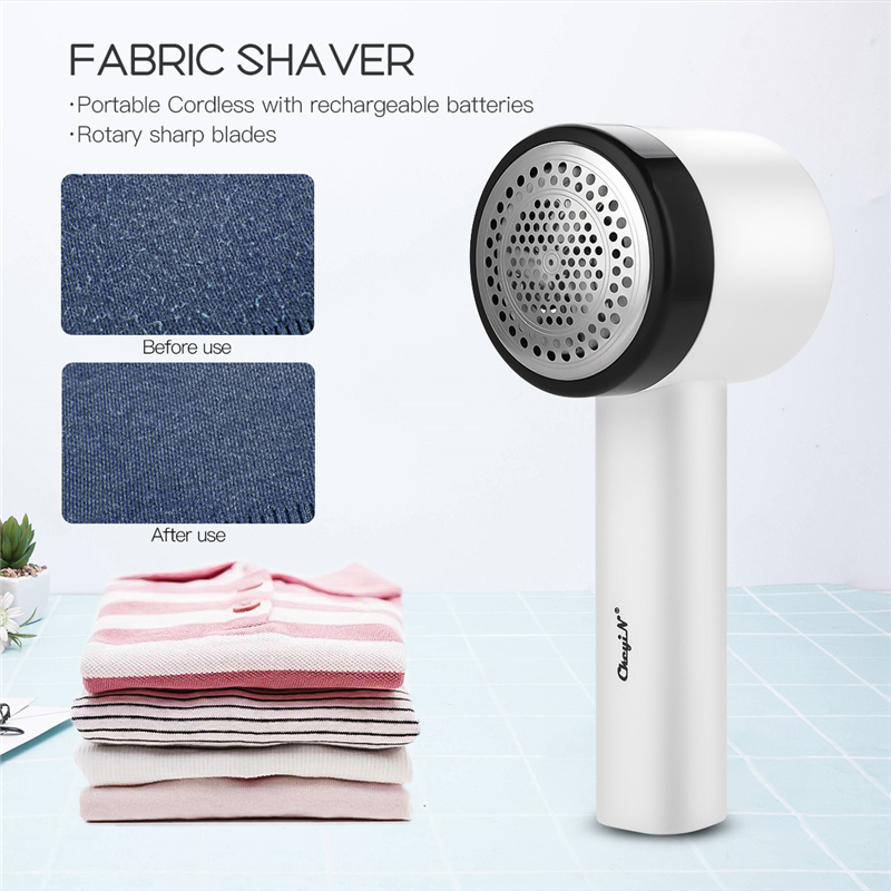 Electric Lint Remover Rechargeable Fabric Shaver With 3-Leaf Stainless Steel Blades Portable Fuzz Remover For Clothes Blanket 40