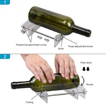 Profesyonel Cam şişe Kesici Aracı şişeler Için Kesme Cam şişe Kesici DIY Kesim Araçları Makinesi şarap Bira şişesi