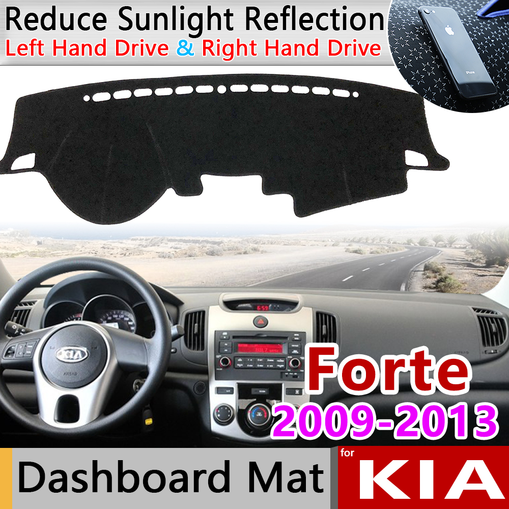 for KIA Forte 2009 2010 2011 2012 2013 TD Anti-Slip Mat Dashboard Cover Sunshade Dashmat Carpet Accessories Cerato Vivaro Koup
