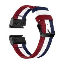 Yooside Fenix 6 Polsband 22 Mm Quick Fit Geweven Nylon Watch Band Strap Voor Garmin Instinct/Fenix 5/5 Plus /Quatix 5/Forerunner 935