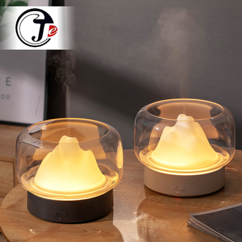 Ultrasonic Air Humidifier Aroma Diffuser 400ML Essential Oil Aromatherapy Difusor With Warm and Color LED Lamp Humidificador