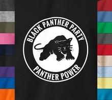 Camiseta de festa de pantera preta malcom x huey newton direitos civis t de algodão macio