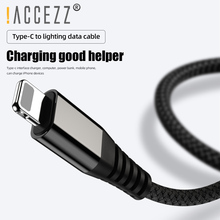 !ACCEZZ PD USB-C To Lighting Fast Charging For iPhone 11 Pro MAX XS XR X For ipad Mini Ipod PD Phone Charge Data Sync Cord Wire кабель a data lightning usb для iphone ipad ipod 1м золотистый amfial 100cmk cgd