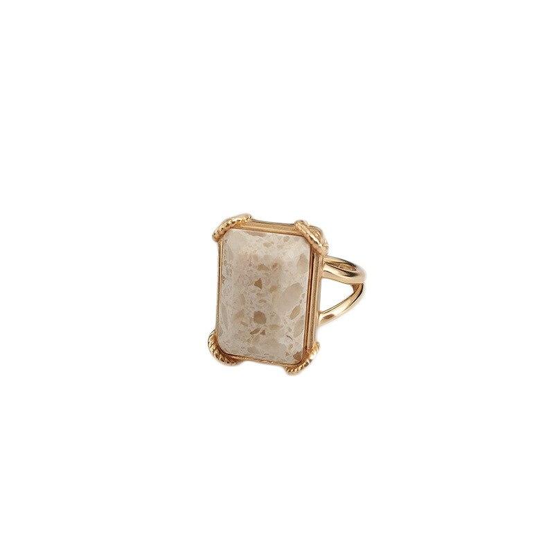 Купить кольца leouerry из натурального мрамора серебро 925 пробы с