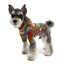 Warm Winter Abstract Art Graffiti Pet Sweater Fashion Dog Clothes Puppy Cotton Coat for Chihuahua Bulldog Costume