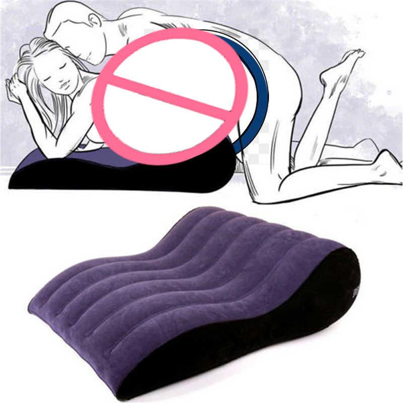 Almohada corporal hinchable, cuña cuadrada de ayuda para sexo, cojín de posición de amor, cojín erótico para adultos, muebles para parejas, juego de cama, sofá para hombres y mujeres