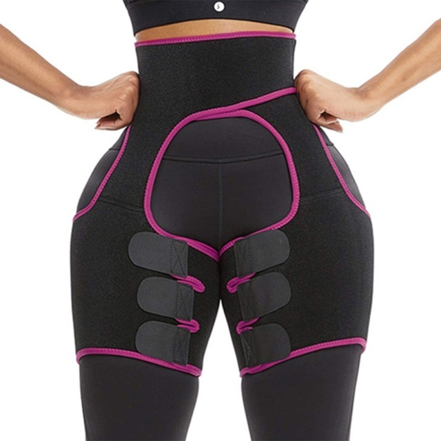 Slim Sweat Thigh Trimmer Leg Shapers Slender Slimming Belt Sweatband Shapewear Toned Muscles Band Thigh Slimmer Wrap 4