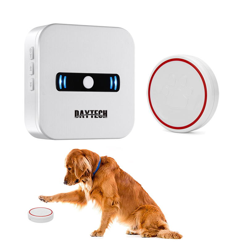 DAYTECH Wireless Doorbell Alarm Chime Cordless Ring DoorBell LED Light Alert Touch Button  Smart Home Welcome Pet Call Button