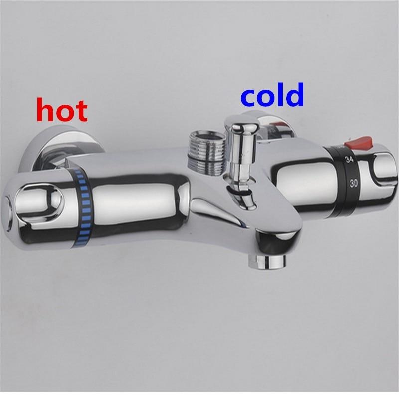H687c32ace8fc4b6f97708d5144107754G hot sale Wall Mounted Two Handle thermostatic mixer shower faucet, Shower Taps Chrome Finish,thermostat faucet,bathroom faucet