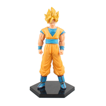 17cm Janpanese anime Dragon Ball Z goku PVC Action Figure toys Gold hair dragon ball  figure Toys collectible model toy kid gift