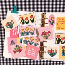 Stationery Decorative-Sticker Notebook-Labels Letters Tulip-Series Korean Simple Mobile-Phone