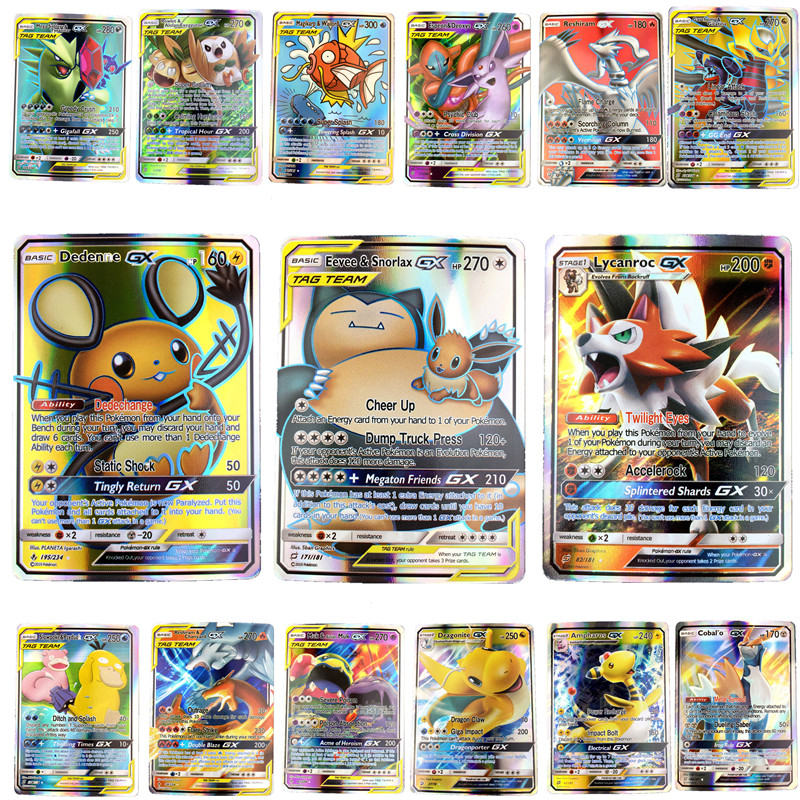 High Quality  Shining  Pokemones  Cards Game Battle Carte  Trading Cards For Children Gifts In Stocks