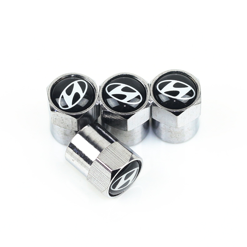 NEW Car Styling Auto Emblem Valve Cap Case For Solaris Ix35 I20 I30 I40 HYUNDAI Tucson CRETA Santa Fe Car Styling