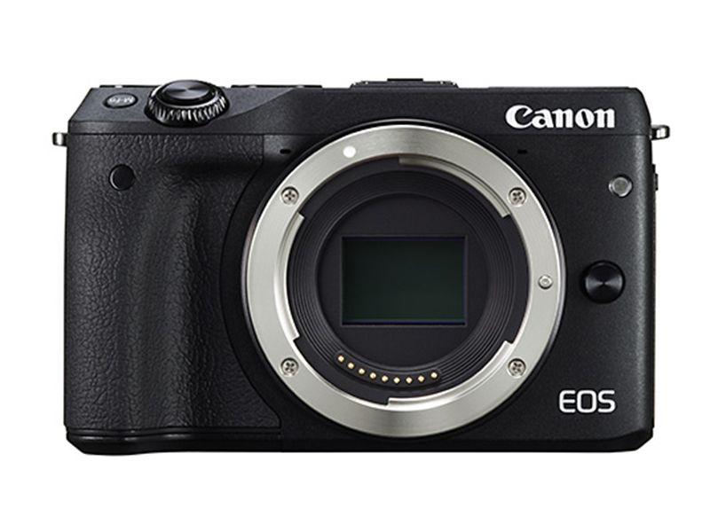 USED Canon EOS M3 Mirrorless Camera Kit with EF M 18 55mm Lens Wi Fi Enabled