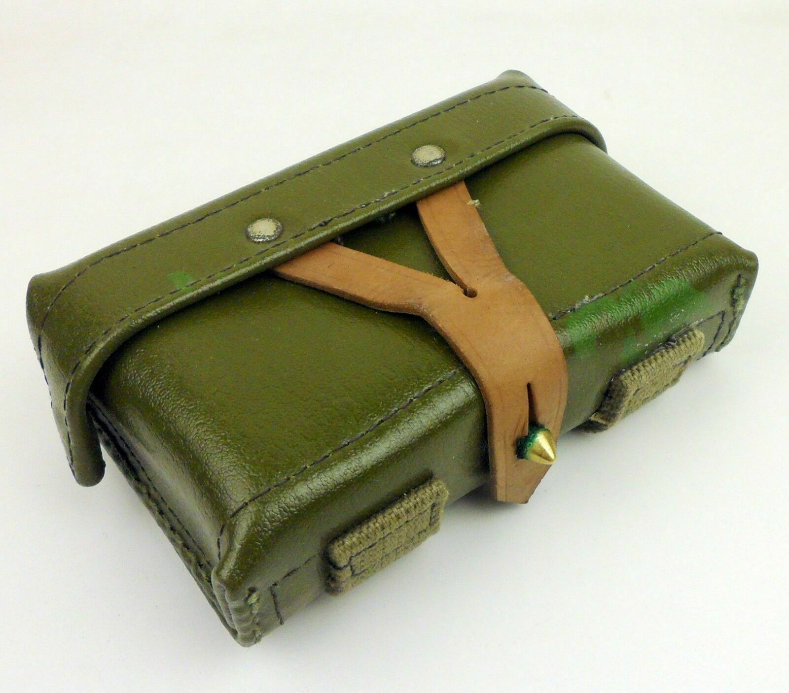 tomwang2012 MILITARY SURPLUS VIETNAM ERA CHINESE ARMY TYPE56 LEATHER SKS FIELD AMMO POUCH Military Combination(China)